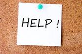 Help message — Stock Photo