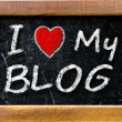 I love my blog — Stock Photo