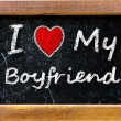 I love My Boyfriend handwritten with chalk — Stock Photo #31061951