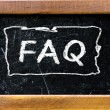 Stock Photo: FAQ handwritten with white chalk