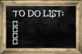 Chalkboard image with empty to do list — Stock Photo
