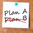 Plan A or plan B written on an white sticky note — Stock Photo #31320831