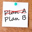 Plan A or plan B written on an white sticky note — Stock Photo