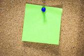 Blank green sticky note — Stock Photo