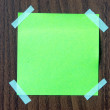 Green sticky note — Stock Photo