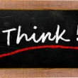 The word Think! — Stock Photo