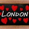 London written on a used blackboard — Stock Photo #32174139