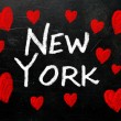 New York written on a used blackboard — Stock Photo