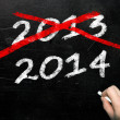 Blackboard with 2013 and 2014 — Stock Photo #32384839