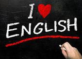 I Love English — Stock Photo