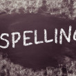Spelling, written on a blackboard. — Stock Photo
