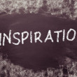Inspiration handwritten on blackboard — Stock Photo #32400555