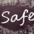 Stock Photo: The word Safe