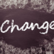 Change handwritten on blackboard — Stock Photo