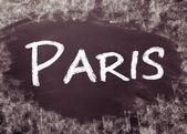 Paris manuscrito em quadro-negro — Foto Stock