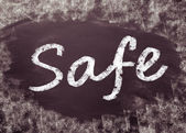 The word Safe — Stock Photo