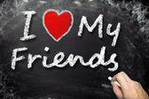 Amo i miei amici — Foto Stock