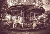 Black and white carousel — Stock Photo
