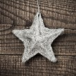 Star on wood background — Lizenzfreies Foto