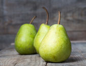 Pears on wood — Stock Photo