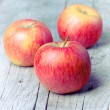 Red apple fruit ripe dew — Stock Photo