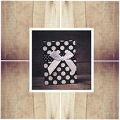 Geschenk-Box mit Bogen — Stockfoto