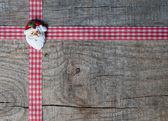 Kırmızı noel şerit — Stok fotoğraf