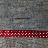 červená vánoční stuha — Stock fotografie