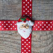 Red christmas ribbon — Stock Photo