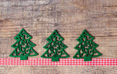 Christmas tree and ribbon decorations — Stock Photo