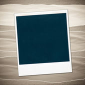 Blank photo frames on a colored background — Stock Photo