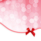 Blurred background with red ribbon — 图库照片