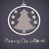 С Рождеством Христовым дерево — Стоковое фото
