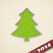 New Year's greeting card with christmas tree — Stockfoto