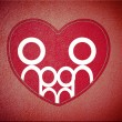 Family and heart background — Stockfoto