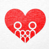 Family and heart background — Stock fotografie