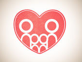 Family and heart background — Foto Stock