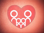 Family and heart background — Stok fotoğraf