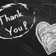 Thank You handwritten with white chalk on a blackboard. — Stock Photo