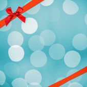 Blurred background with red ribbon — Foto de Stock