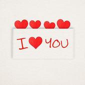 я тебя люблю — Стоковое фото