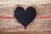 Corações vermelhas e pretas — Fotografia Stock