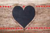Red and black hearts — Stock Photo