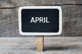 April on Small wooden framed blackboard — Stock Photo