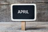 April on Small wooden framed blackboard — Stock Photo