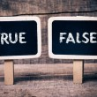 True or False — Stock Photo
