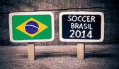 Brazil flag soccer 2014 — Stock Photo