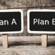 Plan A or Plan B — Stock Photo #37006909