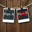 Plan A or Plan B — Stock Photo