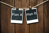 Plan een of plan b — Stockfoto